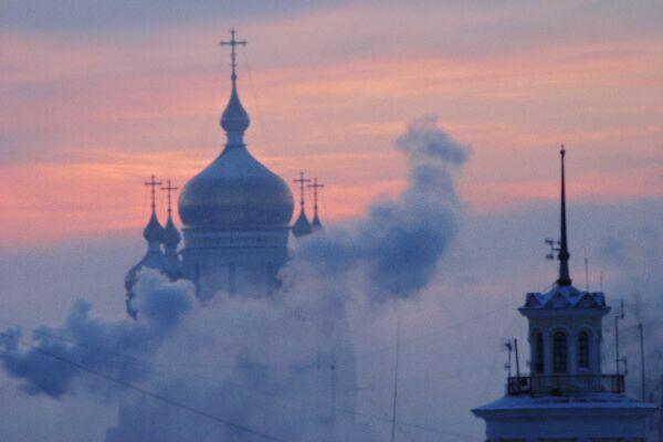 Вид города Хабаровска. Архивное фото
