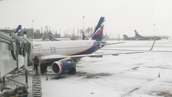 Самолет Airbus A320-214 авиакомпании Аэрофлот в аэропорту Шереметьево