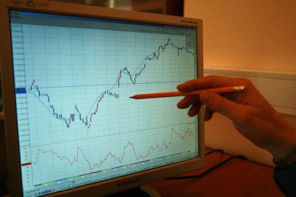 График роста фондового рынка. Архив