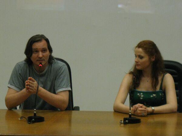 Екатерина Федулова и Сергей Карандашов на открытии фестиваля российских фильмов в Бразилиа