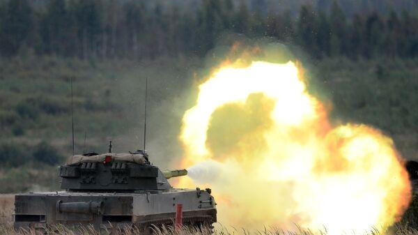 Стрельба из самоходной противотанковой пушки Спрут-СДМ1