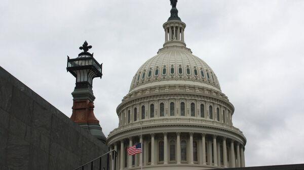 Ротонда Капитолия в Вашингтоне, где проходит церемония прощания с 41-м президентом США Джорджем Бушем-старшим, умершим 30 ноября 2018 года