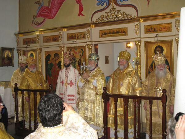 Служба в Благовещенском соборе Московского патриархата в Буэнос-Айресе