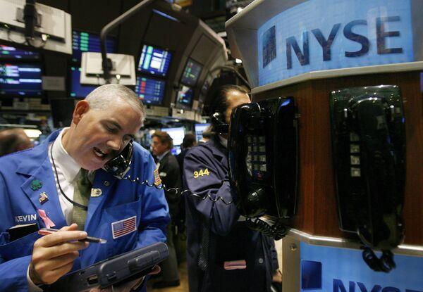 Трейдер Нью-Йоркской фондовой биржы