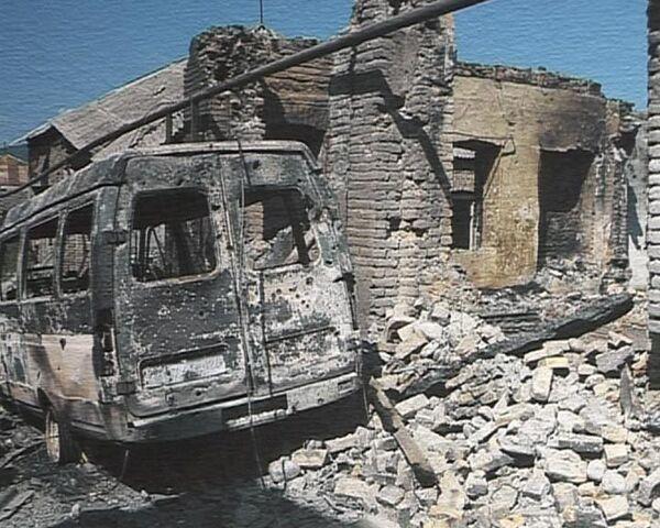 Цхинвали после августовских событий 2008 года