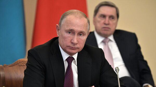 Президент РФ Владимир Путин на заседании Высшего Евразийского экономического совета в Санкт-Петербурге
