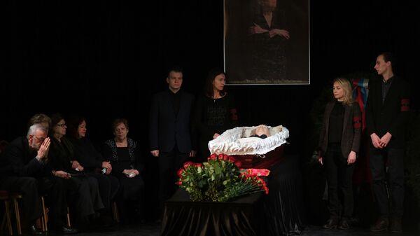 Церемония прощания с правозащитницей Людмилой Алексеевой в Центральном доме журналиста в Москве. 11 декабря 2018