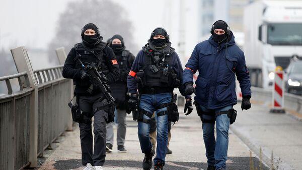 Сотрудники сил специального назначения Франции в Страсбурге. 12 декабря 2018
