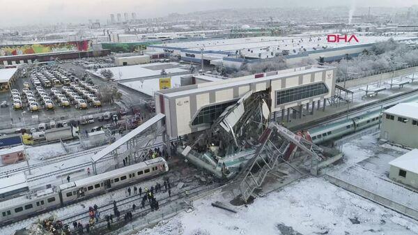 Крушение высокоскоростного поезда в Анкаре, Турция. 13 декабря 2018