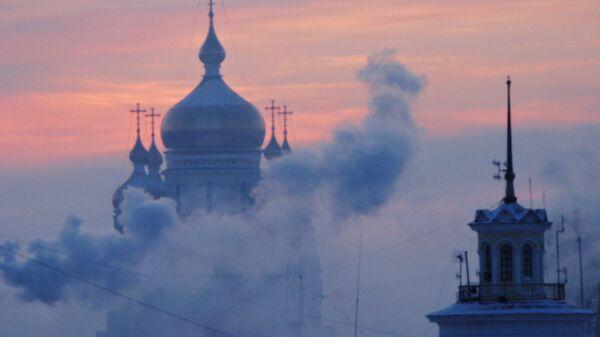 Вид на Спасо-Преображенский собор в Хабаровске