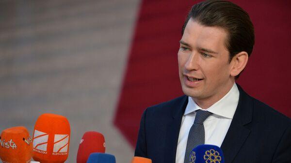 Канцлер Австрии Себастьян Курц на саммите ЕС в Брюсселе