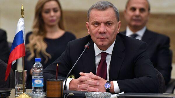 Заместитель председателя правительства РФ Юрий Борисов на заседании межправительственной комиссии РФ и Сирии в Дамаске. 14 декабря 2018