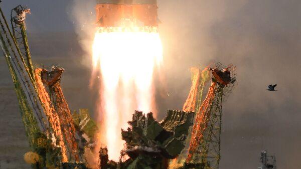 Пуск ракеты-носителя Союз-ФГ