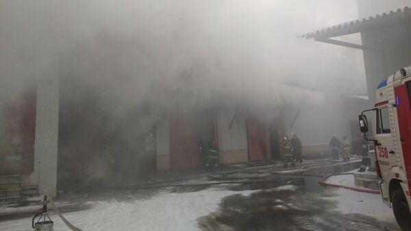 Пожар на заводе «Зингер» в Подольске