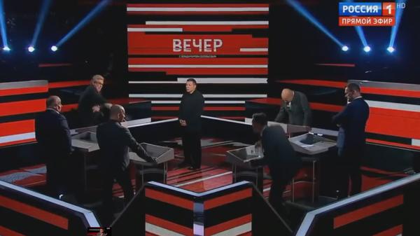 Российский журналист кинул стакан в польского эксперта в эфире «России 1»