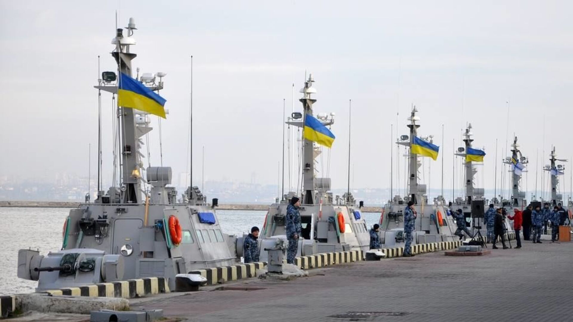Катера ВМС Украины в порту Одессы - РИА Новости, 1920, 20.10.2020