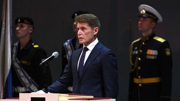 Церемония вступления в должность губернатора Приморского края Олега Кожемяко. 20 декабря