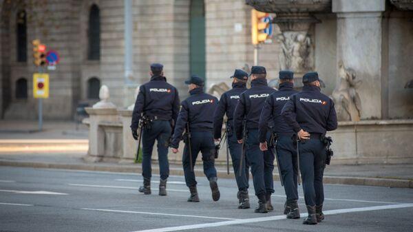 Сотрудники полиции в Барселоне
