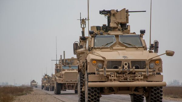 Конвой коалиции США в сирийской провинции Дейр-эз-Зор