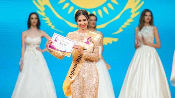 Динагул Тасова на конкурсе красоты Топ-модель СНГ-2018 в Ереване