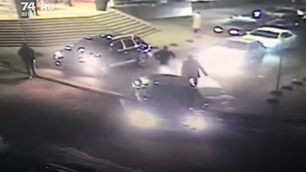 Скриншот с видео Не пропустил «Порш» с парковки — получил пулю