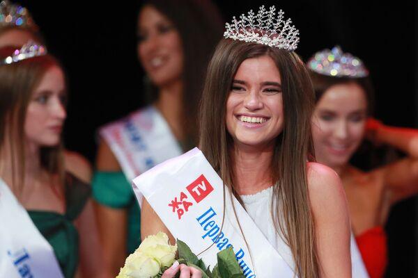 Участница конкурса красоты Мисс Москва 2018 Яна Звязко, победившая в номинации Первая вице-мисс Московская Красавица