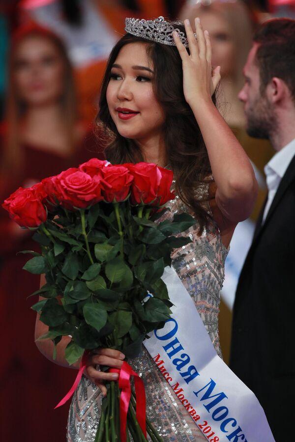 Участница конкурса красоты Мисс Москва 2018 Дина Красаева