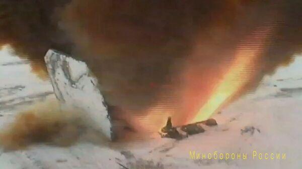 Запуск ракеты комплекса Авангард с гиперзвуковым боевым блоком