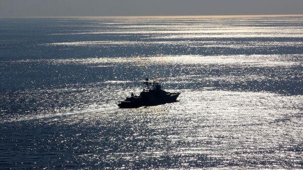 Большой противолодочный корабль Североморск в Средиземном море