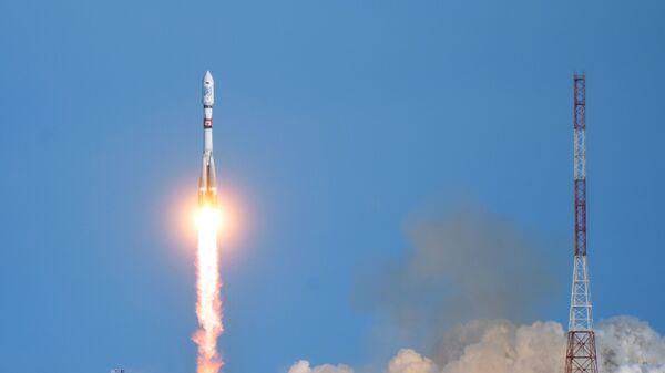 Пуск ракеты Союз-2.1а с космодрома Восточный
