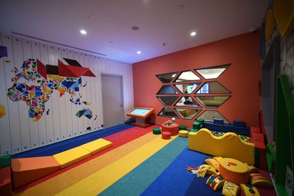 Детская игровая комната в бизнес-зале «Кандинский» в терминале B аэропорта Шереметьево