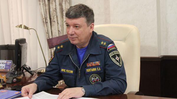 Начальник Главного управления МЧС по области Сергей Полетыкин