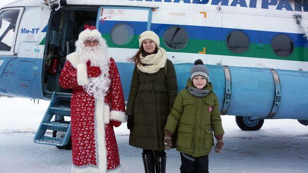 Пятилетний Марк Ивановский из Печоры совершил полёт на вертолёте. 30 декабря 2018