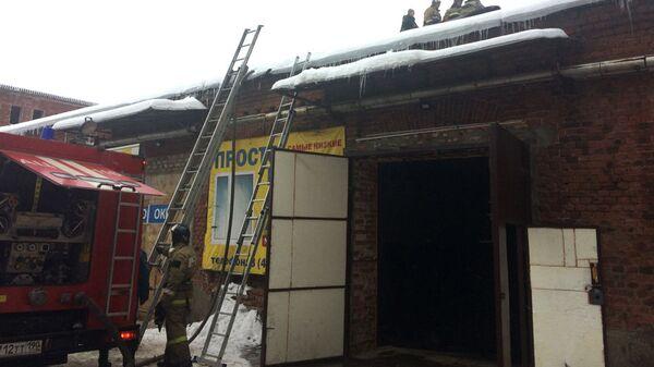 Ликвидация пожара на складе в Орехово-Зуево. 31 декабря 2018