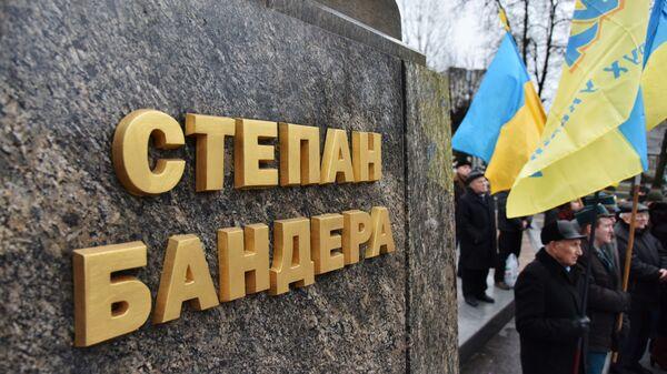 Памятник Степану Бандере на Украине