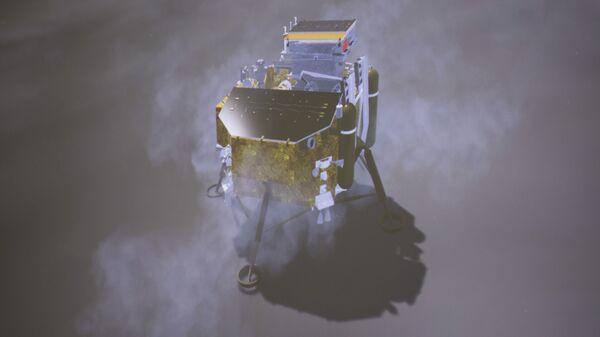 Смоделированный процесс посадки китайского лунного аппарата Чанъэ-4. 3 января 2019