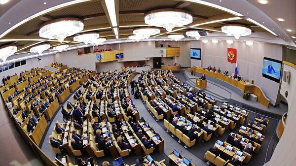 Председатель Государственной Думы РФ Вячеслав Володин выступает на пленарном заседании Госдумы РФ. 9 января 2019
