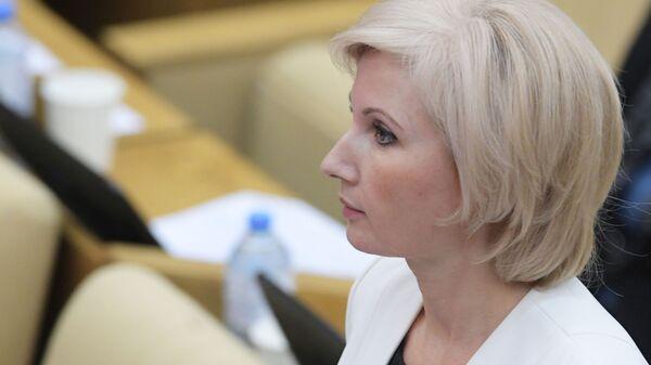 Заместитель секретаря генерального совета партии Единая Россия Ольга Баталина на пленарном заседании Госдумы РФ