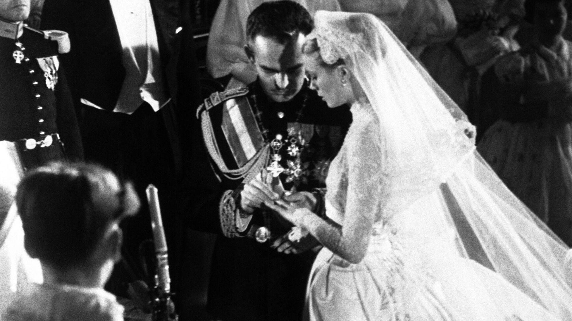 Свадьба Грейс Келли и князя Монако Ренье III. 19 апреля 1956 - РИА Новости, 1920, 18.04.2021