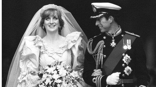 Принцесса Диана и принц Чарльз в день своей свадьбы в Лондоне, 29 июля 1981