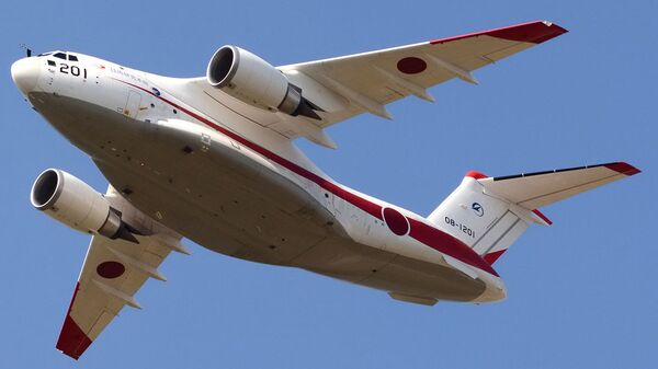 Самолет Kawasaki XC-2 сил самообороны Японии