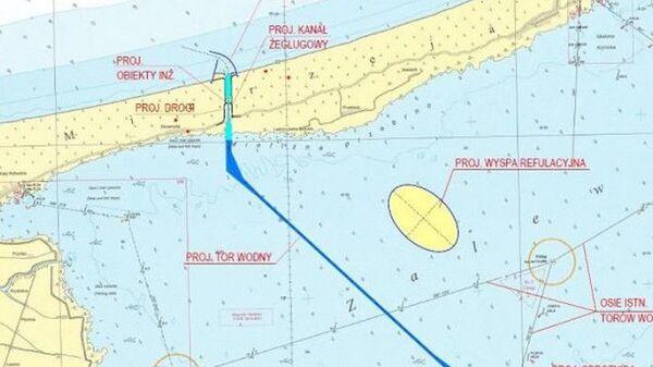 Проект искусственного острова в территориальных водах Польши в Калининградском заливе