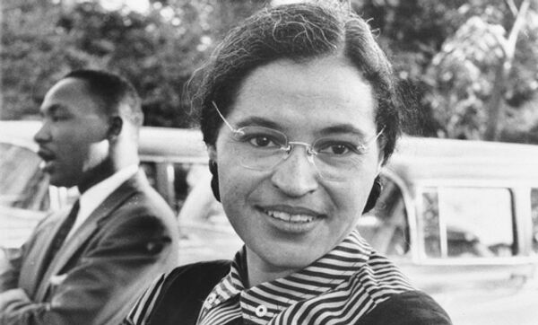 Американская общественная деятельница Роза Ли Паркс. Архив