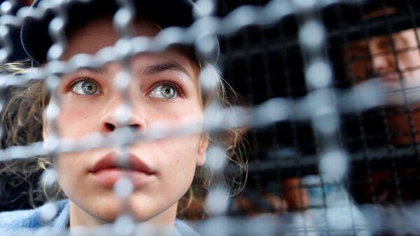 Анастасия Вашукевич в иммиграционном центре в Бангкоке, Таиланд. 17 января 2019