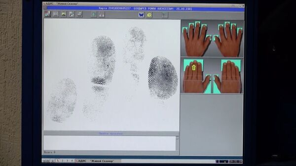 Электронная система снятия отпечатков пальцев в полиции