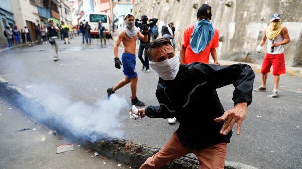 Беспорядки у штаб-квартиры национальной гвардии Венесуэлы в Каракасе