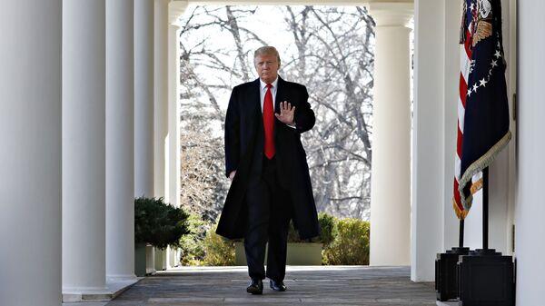 Президент США Дональд Трамп перед объявлением о трехнедельном прекращении шатдауна. 25 января 2019