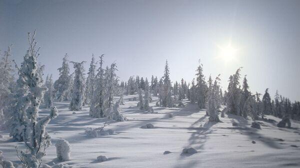 Зима в селе Оймякон (предполагаемый Северный полюс холода)