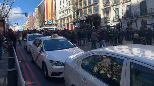 Забастовка таксистов в Мадриде