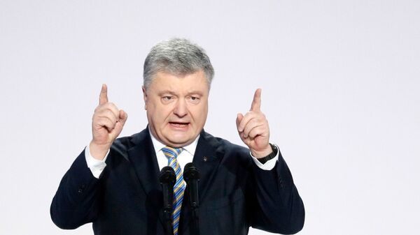 Президент Украины Петр Порошенко во время выступления в Киеве. 29 января 2019